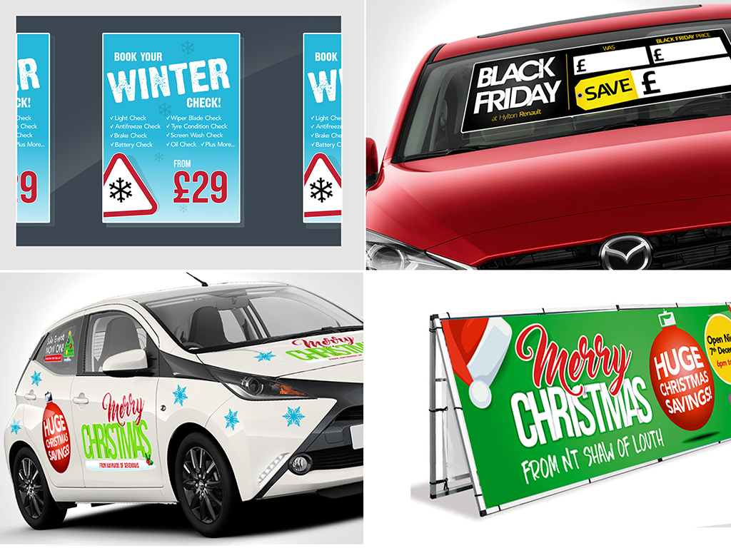 Seasonal campaign graphics from DVLC